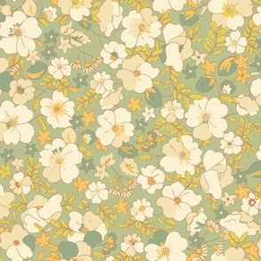 floral illustrated  - sage charlotte