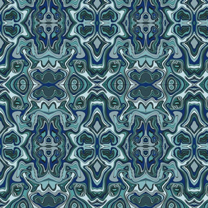 Blue Grey Topography