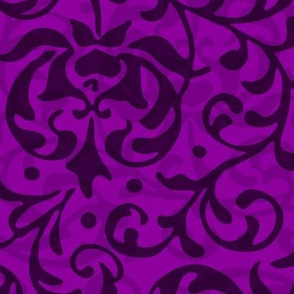 Purple Tudor Damask