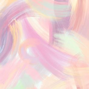 Peachy Pastel Brushstrokes