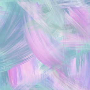 Blue Purple Green Pastel Brushstrokes