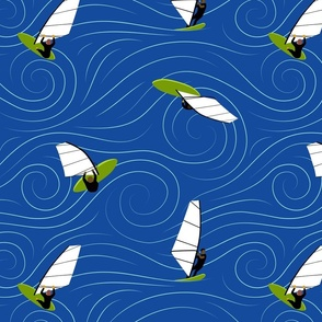 Windsurfing blue