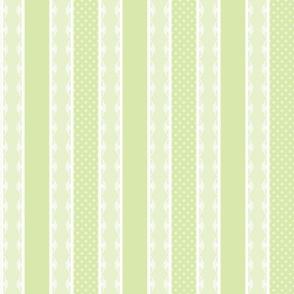 POLKA DOT STRIPE - VINTAGE NURSERY COLLECTION (GREEN)