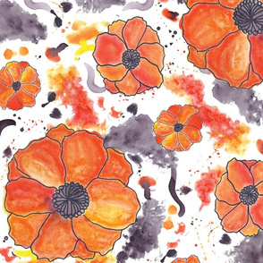 Painted Poppies