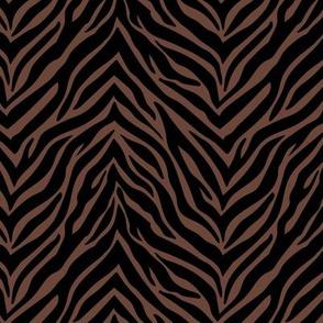 The minimalist zebra stripes animal print boho jungle theme nursery chocolate brown black
