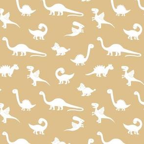 Little minimalist wild dinosaurs sweet kids dino design boho style beige camel white neutral