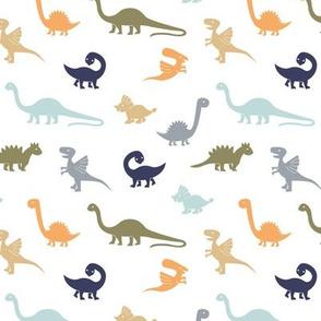Little minimalist wild dinosaurs sweet kids dino design boho style neutral green blue palette boys