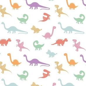 Little minimalist wild dinosaurs sweet kids dino design boho style lilac pink green girls