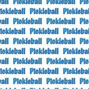 PickleBall Text in Blue