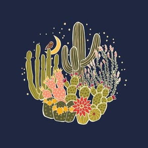 Midnight Bloom Embroidery Template