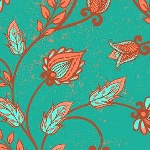 oriental ornament  (turquoise) MAX