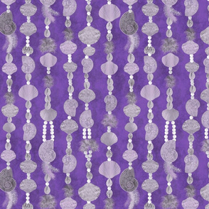 seashells-pearls and feathers_purple