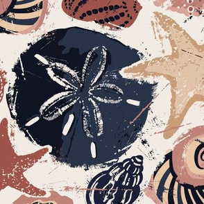 Seashells on Sand - Jumbo