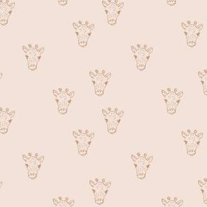 Sweet little giraffe friends safari animals minimalist boho style nursery earthy neutral blush cream ochre beige