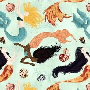 mermaids and seashells small
