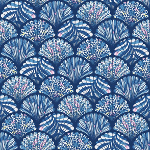 Abstract Patterned Shells - bright (large)