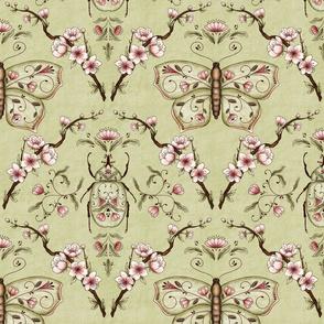 Bellanora spring damask pattern green medium
