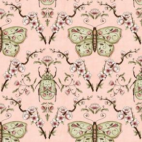 Bellanora spring damask pattern pink medium