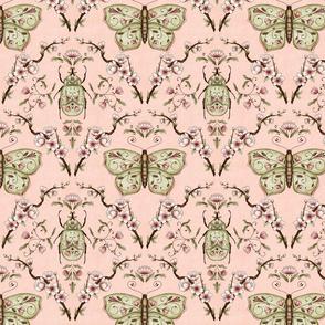 Bellanora spring damask pattern pink small