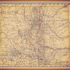 Colorado map - 12 by 15 inch (proportionately incorrect)
