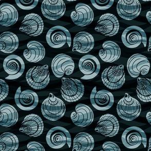 Ocean Shells - Turquoise - Medium