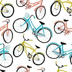 Bikes - Painted Bicyles White