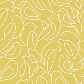 Minimal Flock - Linear Birds Yellow