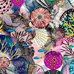 Seashells Alcohol Ink