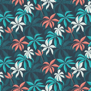 Tropical leaves - Botanical Dark