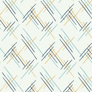 Blossoms - Geometric Lines Cream