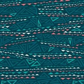 Tribal Triangles - Geometric Dark