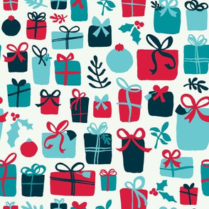 Gifts Galore - Whimsical Painted Christmas Presents