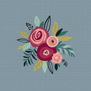 Embroidery Floral Template