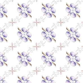 Purple Clam Shells