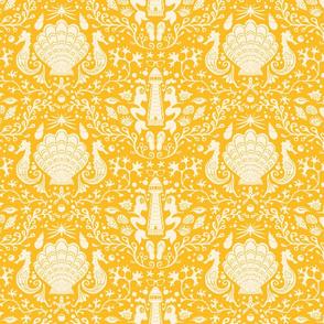 summer beach damask goldenrod yellow medium