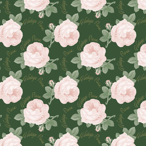 Vintage Rose with text