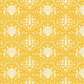 summer beach damask goldenrod yellow small