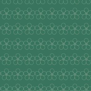 Green outline flower