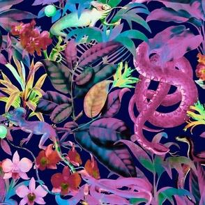 Reptiles Paradise Colorful Jungle
