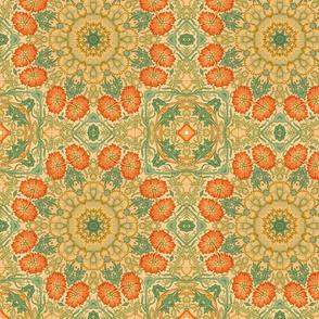 William Morris Tribute Orange Yellow