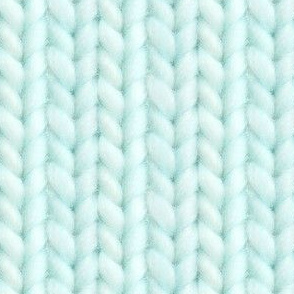 Knitted stockinette - pale aqua solid