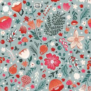 Scandanavian Floral_Grey