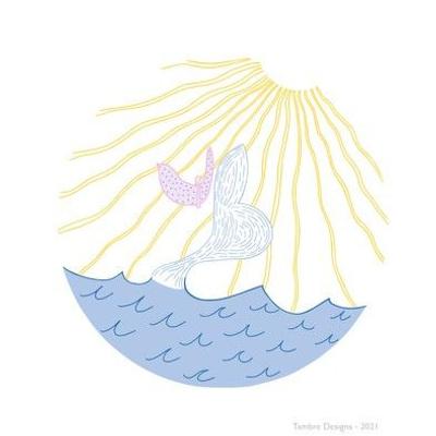 Embroidery Template - Sun on Ocean