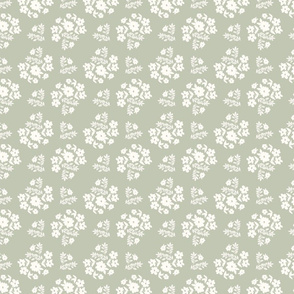 fall pat 3D blue white ditsy florals painterly florals hygge style feminine cottage core pattern terriconraddesigns