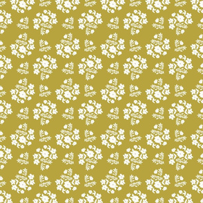 fall pat 3 D hygge style painterly florals ditsy floral pattern cottage core green white pattern farmhouse style terriconraddesigns