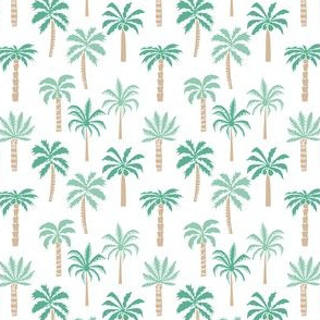 MINI palm tree fabric // tropical summer linocut design by andrea lauren palm prints