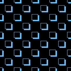 Retro Squares Sky Blue