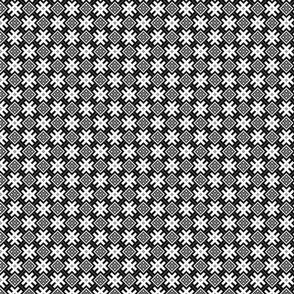 Fertile Land - Ethno Slavic Symbol Folk Pattern - Orepey Sown Field - Obereg Ornament - Black Gray White - 2 Smaller Scale