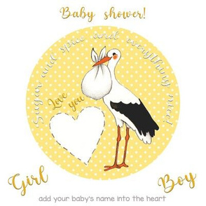 girl or boy, it's a joy! Embroidery template