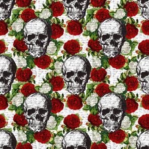 Skulls & Roses 9in